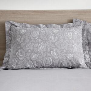 Roisin Grey Oxford Pillowcase Pair