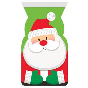 Santa Shaped 12 Cello Bags With Zip Close