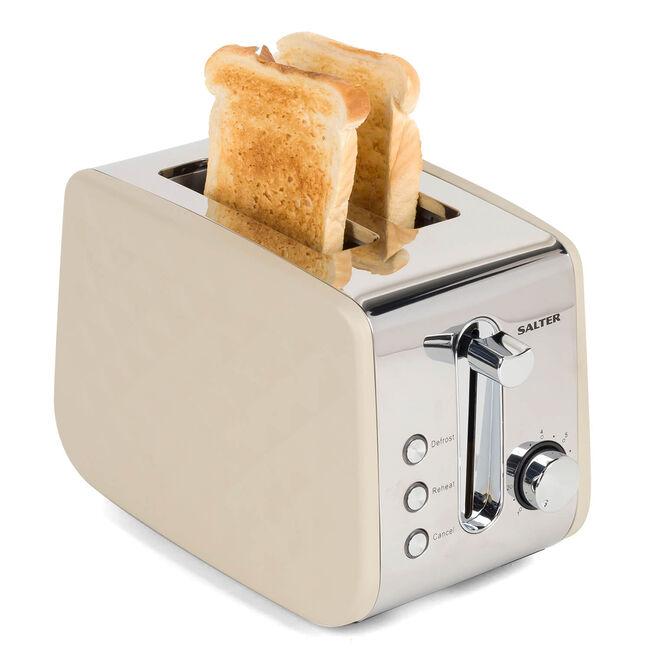 Salter Naturals Diamond 2 Slice Toaster - Grey