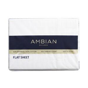 DOUBLE FLAT SHEET 300Tc Bamboo/Ctn White