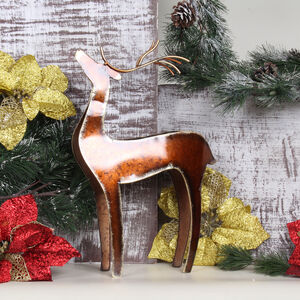 Metal Reindeer T-Light Holder 36cm