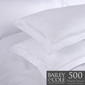 Double Stitch 500TC Oxford Pillowcase Pair - White
