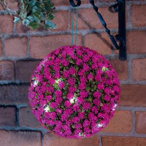 Solar Rose Ball Lights 28cm