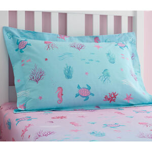 Mermaid Lagoon Oxford Pillowcase Pair - Turquoise