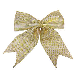 Large Gold Diamante Christmas Bow