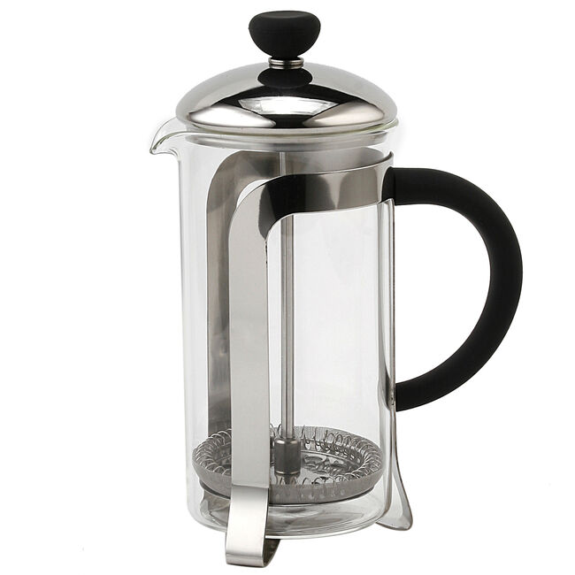 Glona Stainless Steel Glass Cafetiere 350ml