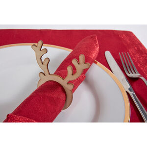 Reindeer Napkin Ring - Natural