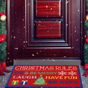 Christmas Rules Doormat 40 x 60cm