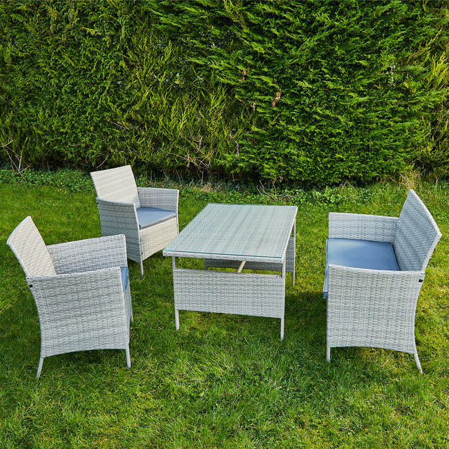 Toulon Rattan Garden Furniture Set 4 Piece
