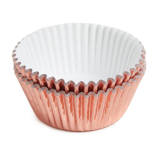 PME Metallic Cupcake Cases 30 Pack - Rose Gold