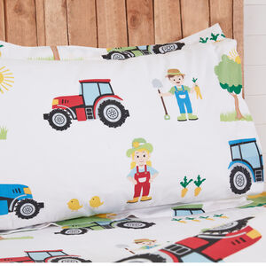 Farm Day Oxford Pillowcase Pair - Multi