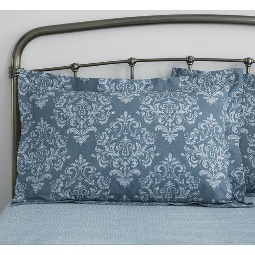 Sylvia Oxford Pillowcase Pair - Teal