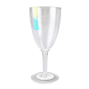 Etched Flower Wine Goblet