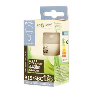 Eco Light 5W Golf Daylight Bulb (E15)