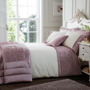 Quilted Rose Blush Pillowshams