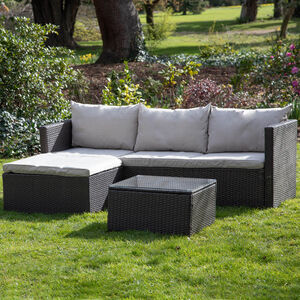 Turin Rattan Sofa Lounger Set