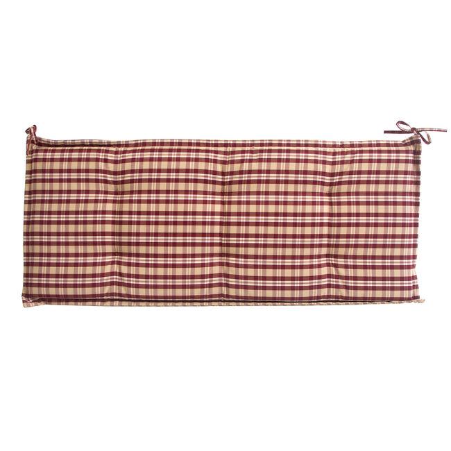 Bench Cushion Red Check 50x120x5cm