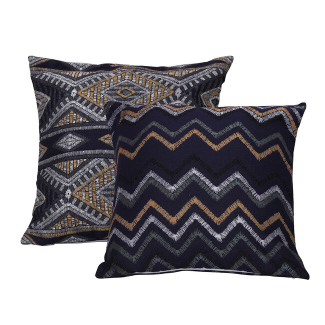 Tribal Cushion 58 x 58cm - Navy