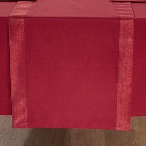 Shimmer Trim Table Runner 229x40cm - Red