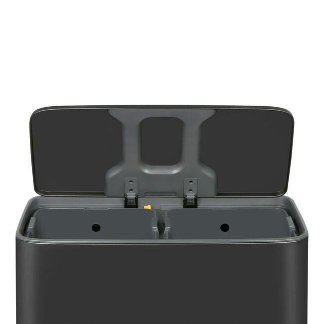 Forma 2 Compartment Bin 60L - Matt Black