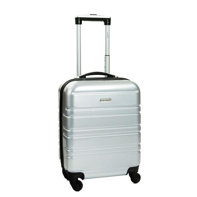 Cabin Size Silver Hardshell Suitcase