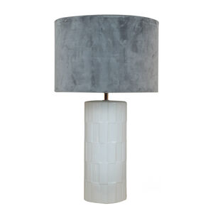 White Etched Table Lamp