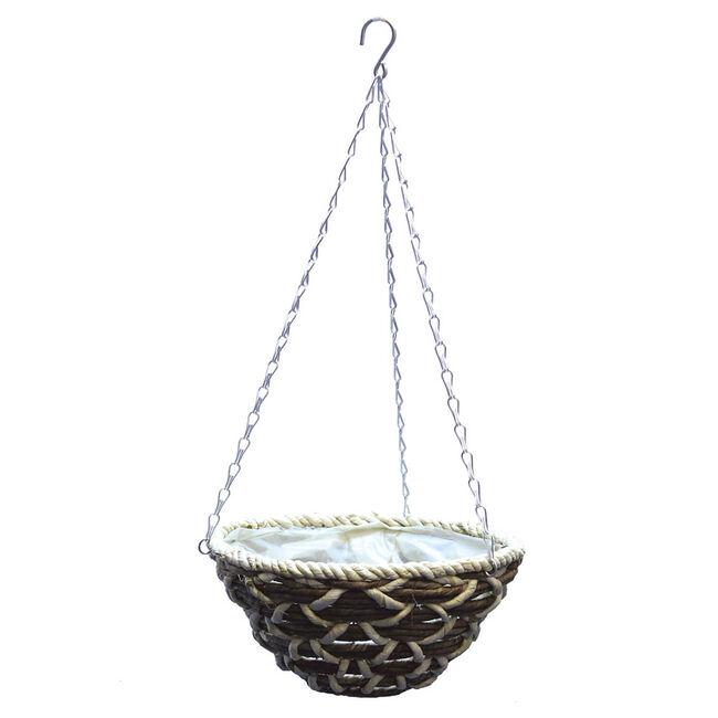 Round Corn Rope Hanging Basket 12 inch