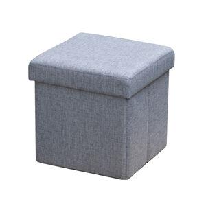 Deluxe Grey Charcoal Grey Folding Ottoman
