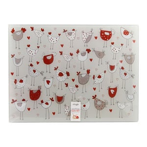 Dotty Hen Glass Worktop Saver