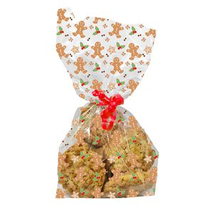 Gingerbread Man Cello Bags - 20 Pack
