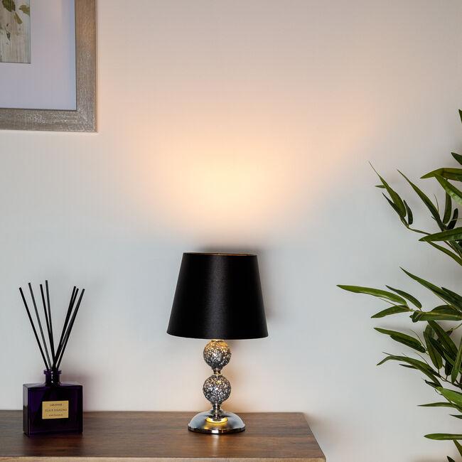 30cm Crackle Mosaic Ball Table Lamp