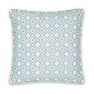 Diamond Jacquard Duck Egg Cushion 45cm x 45cm