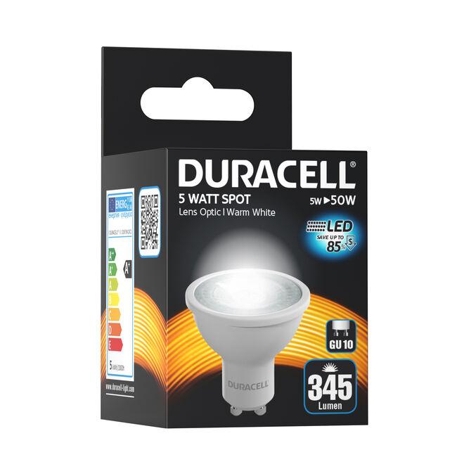 Duracell GU10 LED Bulb 5W (EQ50W) Non Dim