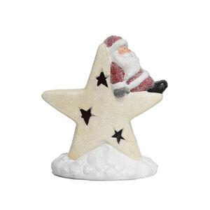 Santa On Light- Up Star