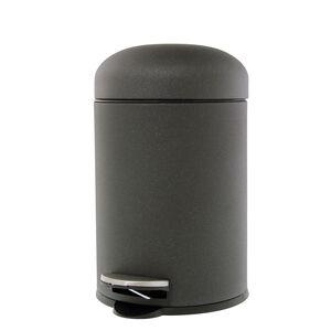 Black Sparkle Dome Lid Pedal Bin 3L