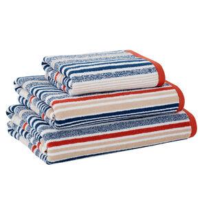 500GSM MCMARTIN STRIPE NAVY/PAPRIKA Hand Towel