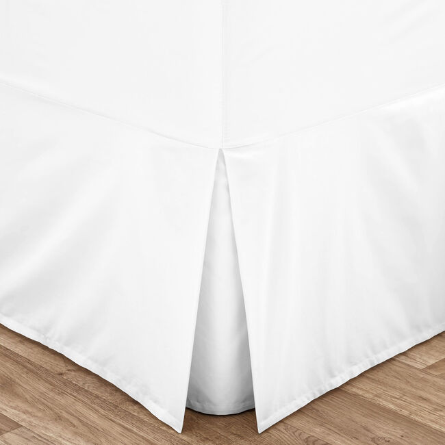 SUPER KING VALANCE SHEET Luxury Percale White