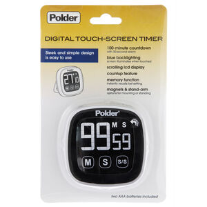 Polder Digital Touch Screen Timer - Black