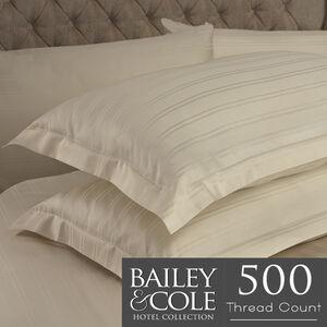 Lustrous Stripe 500 Threadcount Pillowcase Pair