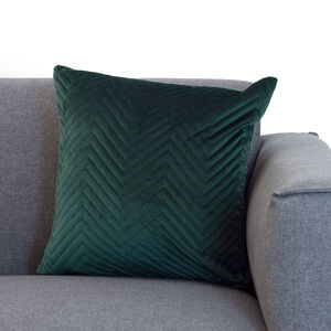 Triangle Stitch Cushion 45x45cm - Green