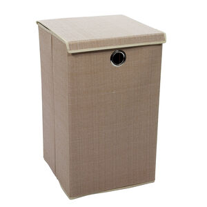 Tweed Beige Foldable Laundry Hamper