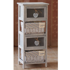 Rustic Heart & Bow Large Storage Unit
