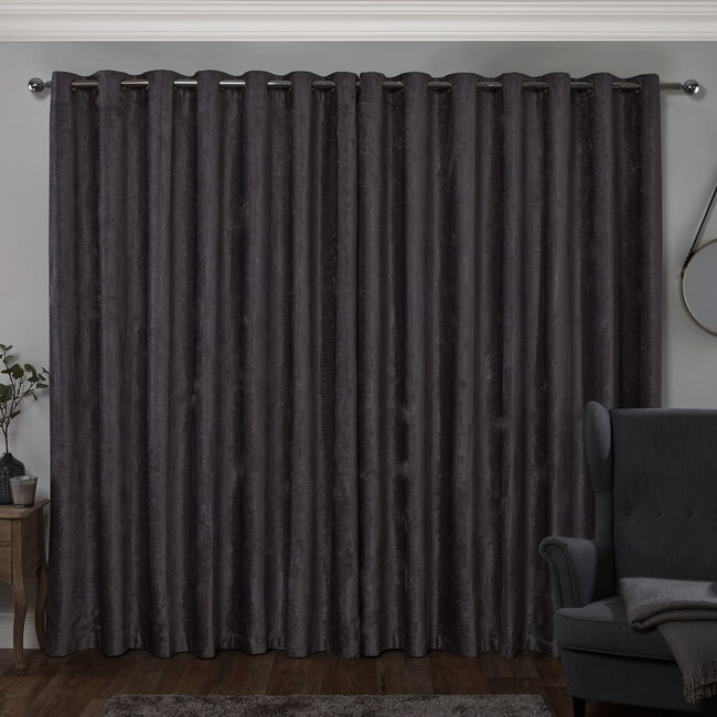 BLACKOUT & THERMAL TEXTURED SLATE 66x90 Curtain