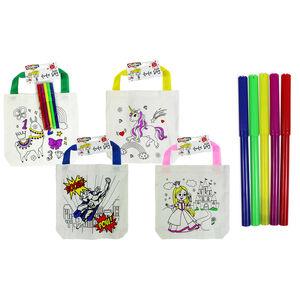 Unicorn Tote Bag With 4 Felt Tip Pens