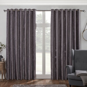 BLACKOUT & THERMAL TEXTURED SLATE 66x54 Curtain