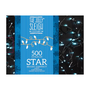 500 Ice Blue LED Star Bright Compact Lights
