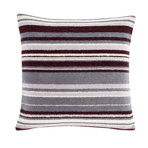 Rhea Stripe Cushion 58 x 58cm - Plum