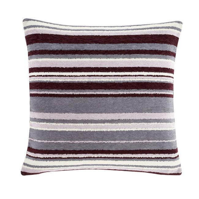 Rhea Stripe Cushion 58 x 58cm - Plum
