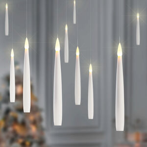 Floating Candles with Warm White LED's - 10 Pack