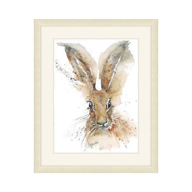 Hare Framed 36x48cm